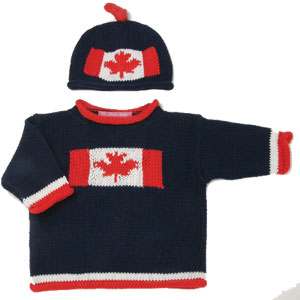 Canada-flag-sweater